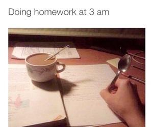 homework, funny, and school image