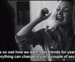 sad, friends, and quotes image