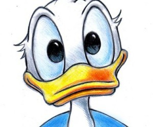 disney, donald duck, and art image