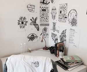 artist, black, and drawings image