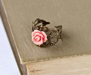 ring, rose, and pink image