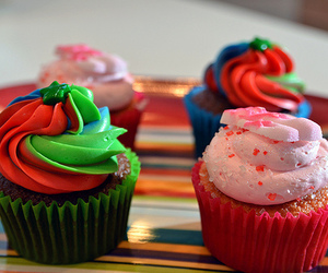 colorful, cupcakes, and quality image
