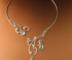 silver, necklace, and pretty image