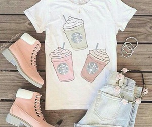 outfit, starbucks, and style image