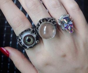 rings, eye, and grunge image