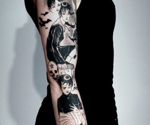 tattoo, black, and manga image