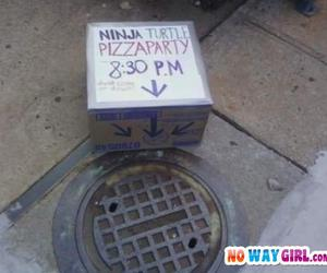 funny, pizza, and party image