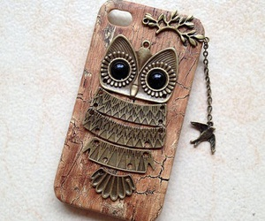 owl, cute, and case image