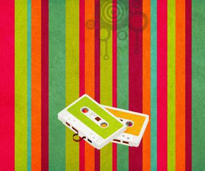 music, old, and pattern image