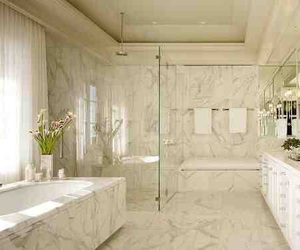 white, bathroom, and bath image