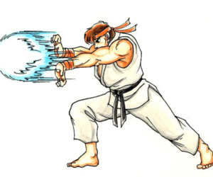 blue, Hadouken, and ryu image