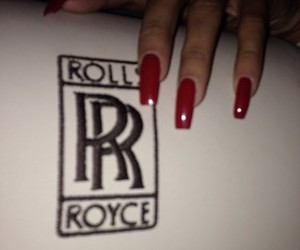 beauty and red nails image