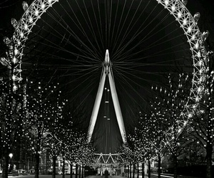 london, black and white, and black image