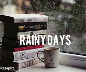 book, rain, and rainy days image