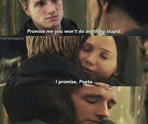 peeta, katniss, and love image