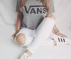 jeans, torn, and vans image