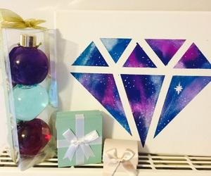art, blue, and christmas image