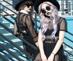 black, dark, and girls image