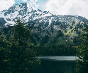 autumn, landscape, and mountains image
