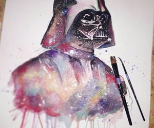 star wars, aquarela, and colors image