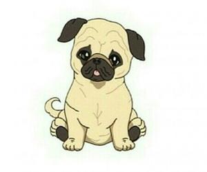 dog, overlay, and pug image