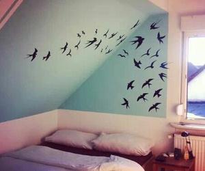 bedroom and birds image