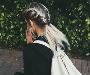 hair, girl, and style image