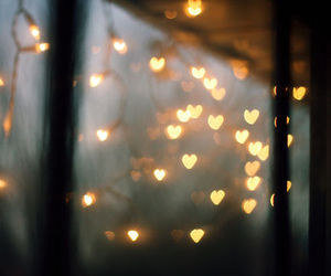 light, heart, and hearts image