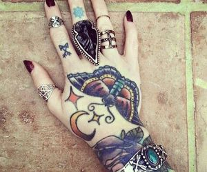 hand, inked, and tattooed image