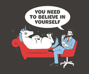 unicorn, believe, and funny image