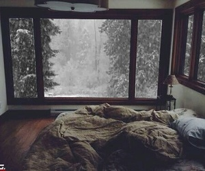 beautiful, bed, and blanket image