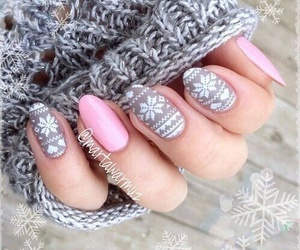 grey, nails, and pink image