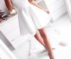 dress, white, and pure image