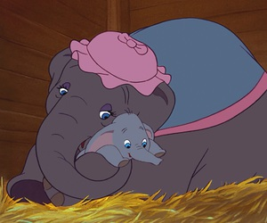 dumbo, disney, and elephant image