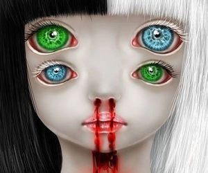 creepy, eyes, and girl image