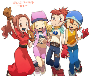 girls and digimon image