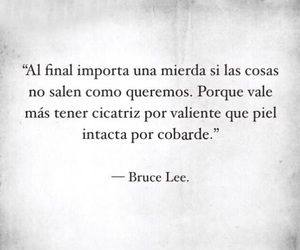 frases, bruce lee, and scars image