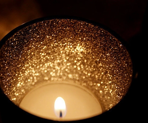 candle, light, and glitter image