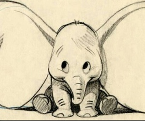 dumbo, disney, and drawing image