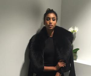 fashion, black, and fur image