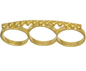 knuckle ring, gold midi ring, and triple midi ring image