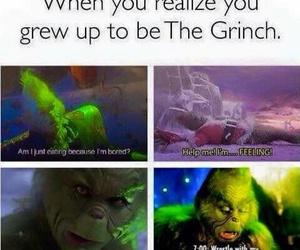 funny, christmas, and grinch image