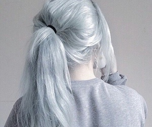 dyed, grey, and hair image