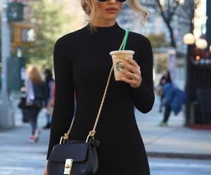 fashion, black, and starbucks image