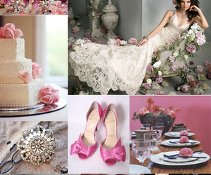 food, pink, and wedding image