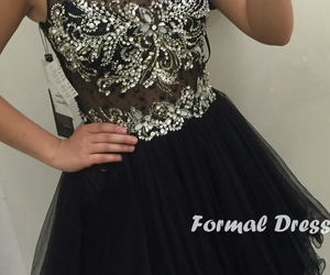 black dress, dress, and dresses image