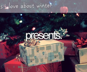 winter, christmas, and presents image