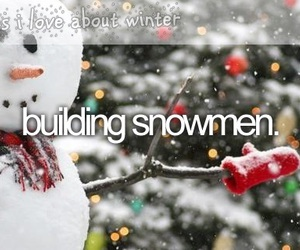 winter, snow, and snowmen image