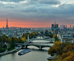 river, boat, and france image
