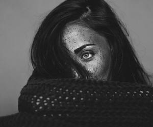 black and white, woman, and photography image